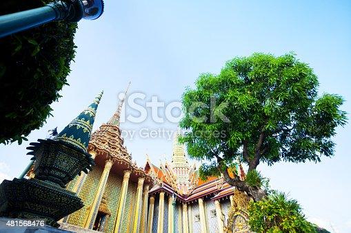 Phra Mondop and Royal Pantheon in Wat Phra Kaeo in Bangkok.