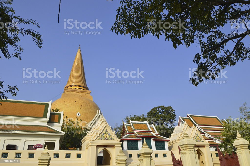 Phra Pathom Chedi Ong woramahawihan. stock photo