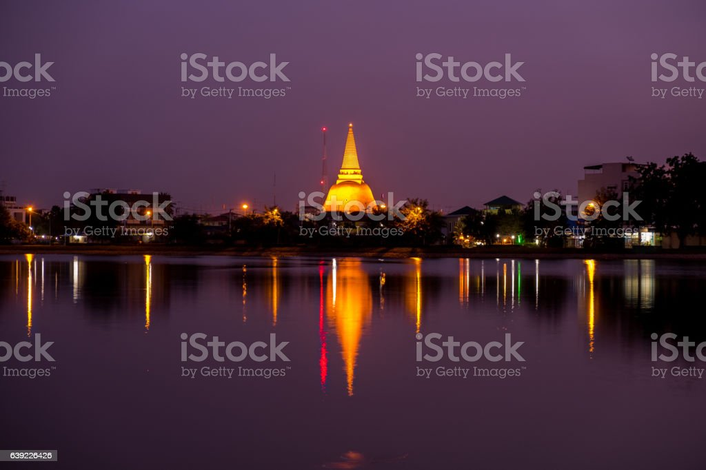 Phra Pathom Chedi Sanctuary is a vital part of Thailand. stock photo