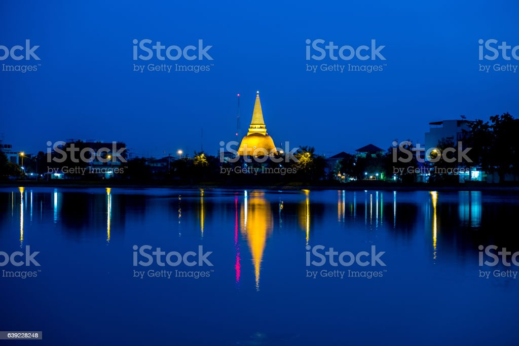 Phra Pathom Chedi Sanctuary is a vital part of Thailand stock photo