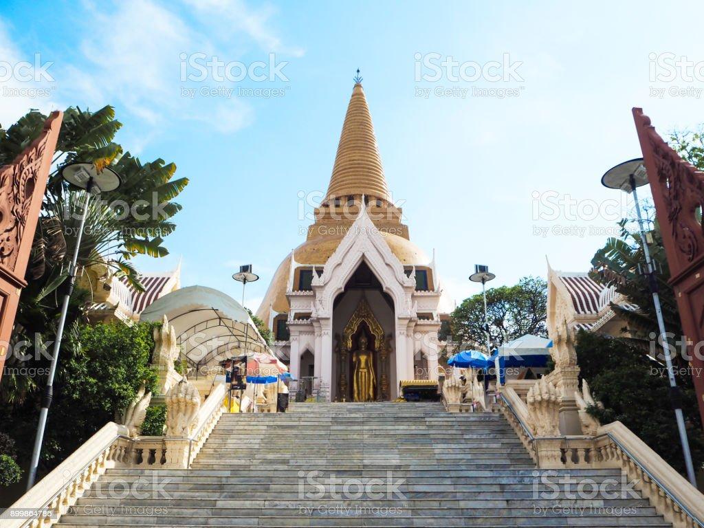 Phra Pathom Chedi Temple , Nakhon Pathom, Thailand. stock photo