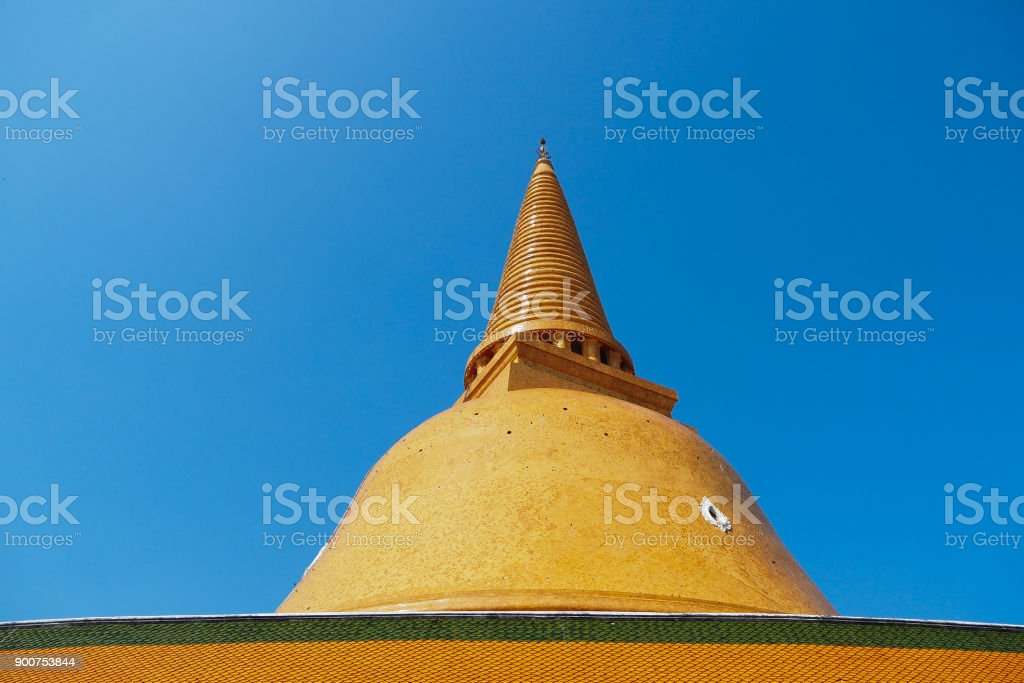 Phra Pathommachedi - Thailand stock photo