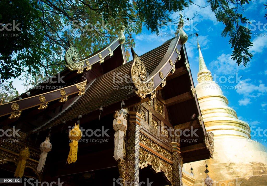 Phra Singh Temple stock photo