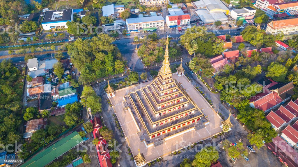 Phra That Kaen Nakhon  Temple in  Khon Kaen Thailand stock photo