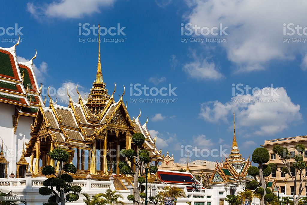Phra Thinang Aphorn Phimok Prasat of the Grand Palace stock photo