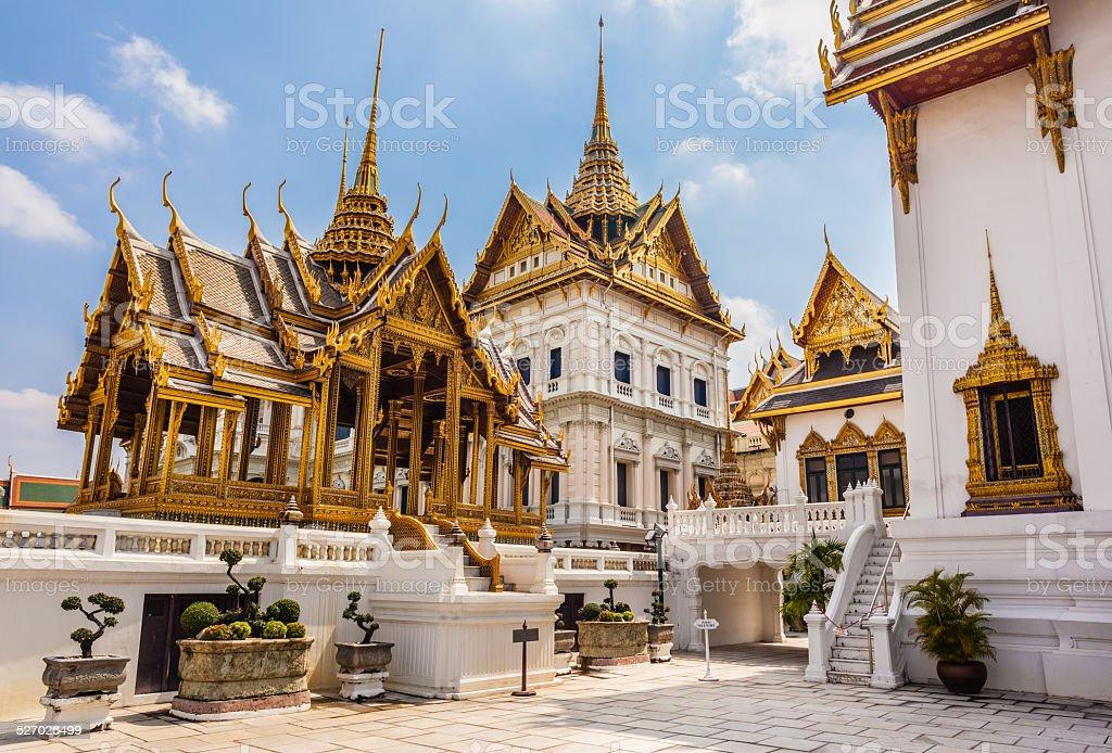 Phra Thinang Dusit Maha Prasat temples stock photo