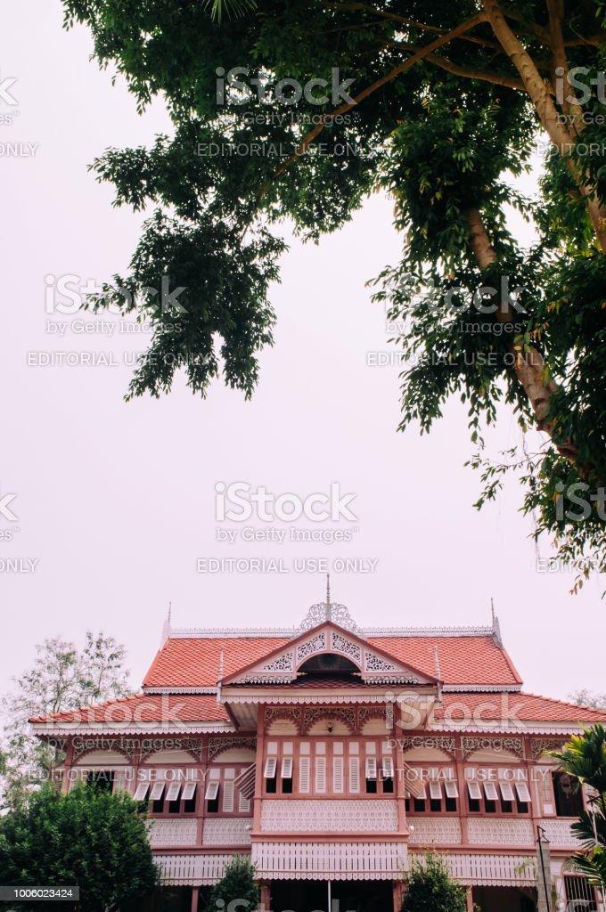 Phrae Thailand Old Classic Teak Wood House Baan Wongburi