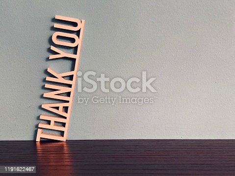 istock THANK YOU phrase on blue background 1191622467
