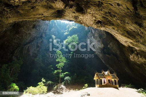 Temple in the Phraya Nakhon Cave in Thailand