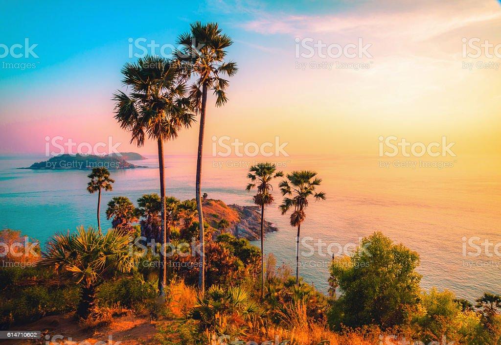 Phromthep cape viewpoint at twilight sky in Phuket,Thailand royalty-free stock photo