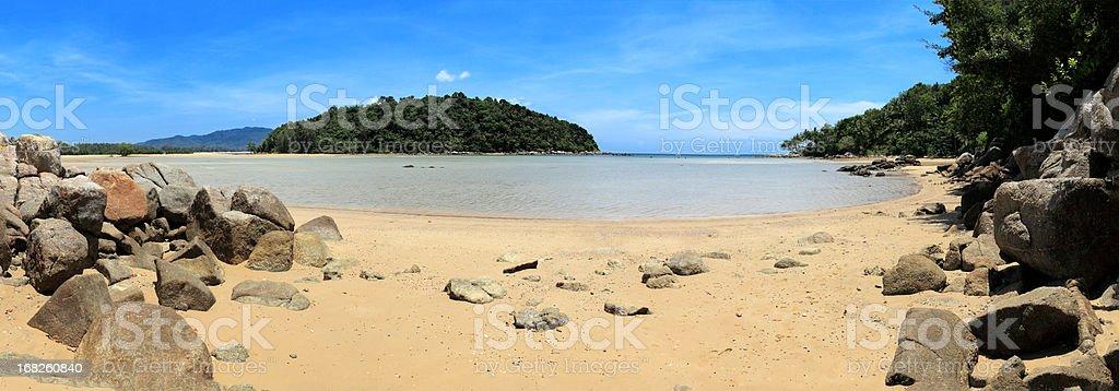 Phuket Beach Panorama royalty-free stock photo