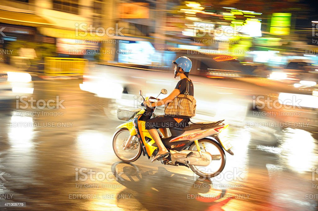Phuket by night stock photo