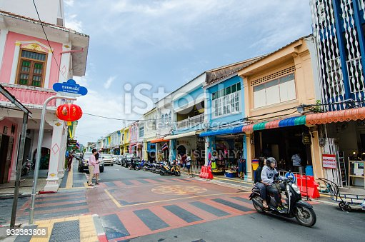 istock Phuket old town, PHUKET, THAILAND.The Phuket old town is popular of tourist in Phuket 932383808