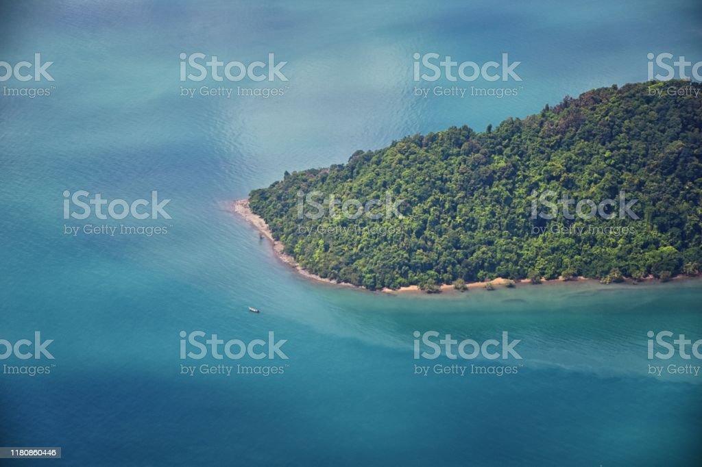Phuket Thailand aerial drone bird\'s eye view photo of tropical sea,...