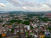 istock Phuket Town Thailand from above Khao Rang Hill by drone 1188889120