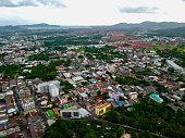 istock Phuket Town Thailand from above Khao Rang Hill by drone 1188889302