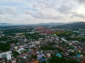 istock Phuket Town Thailand from above Khao Rang Hill by drone 1188889709