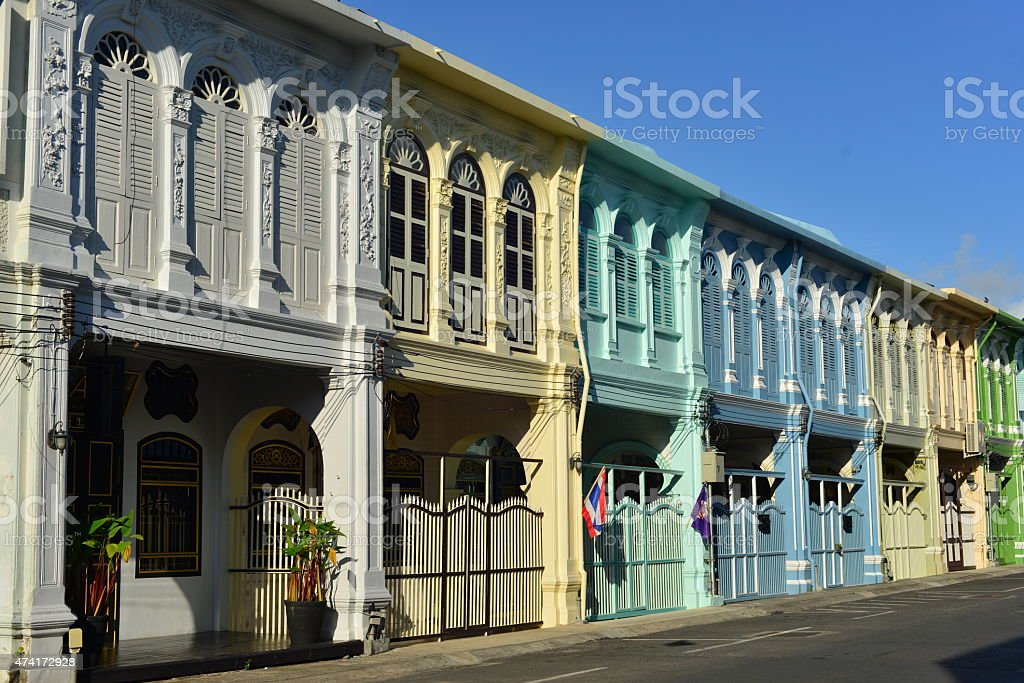 Phuket Town, Thailand. stock photo
