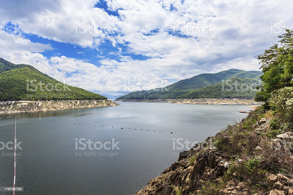 Phumiphol dam in Tak, thailand royalty-free stock photo