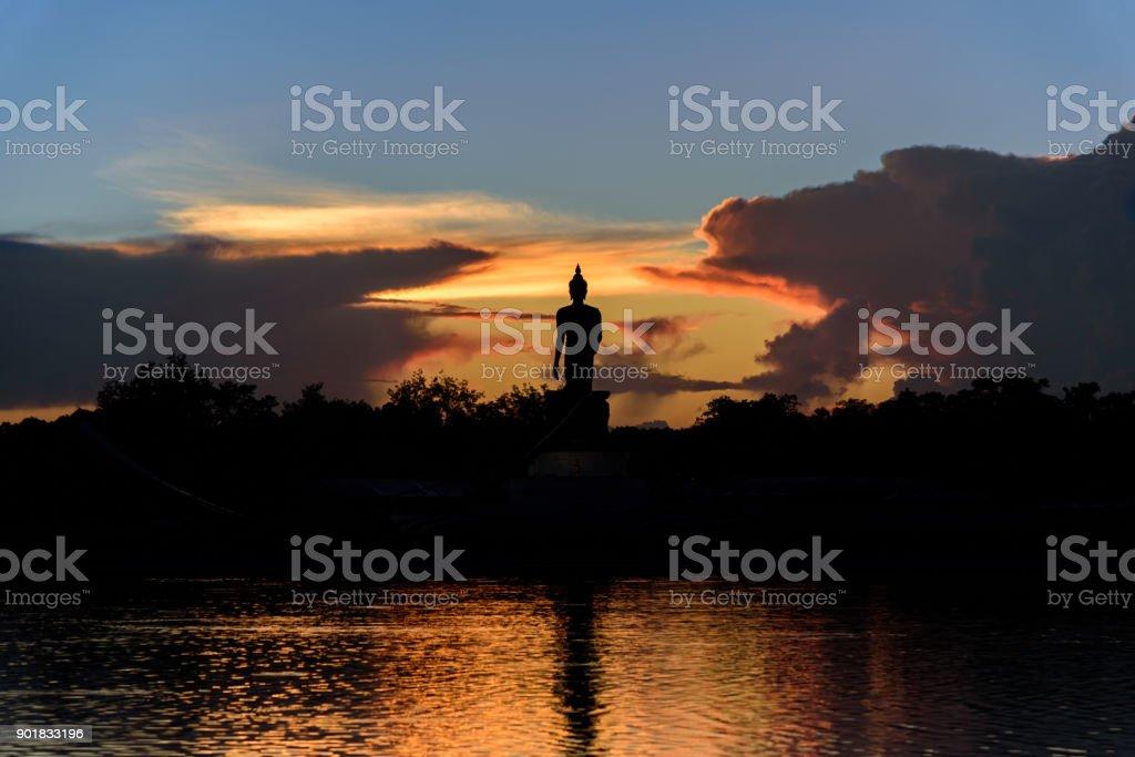 Phutthamonthon is a Buddhist park in the Phutthamonthon District, Nakhon Pathom Province of Thailand, west of Bangkok. stock photo