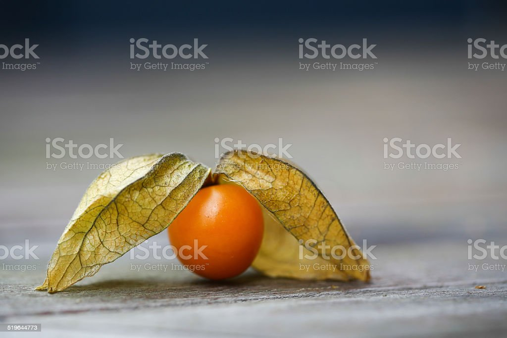 Physalis fruit on a table stock photo