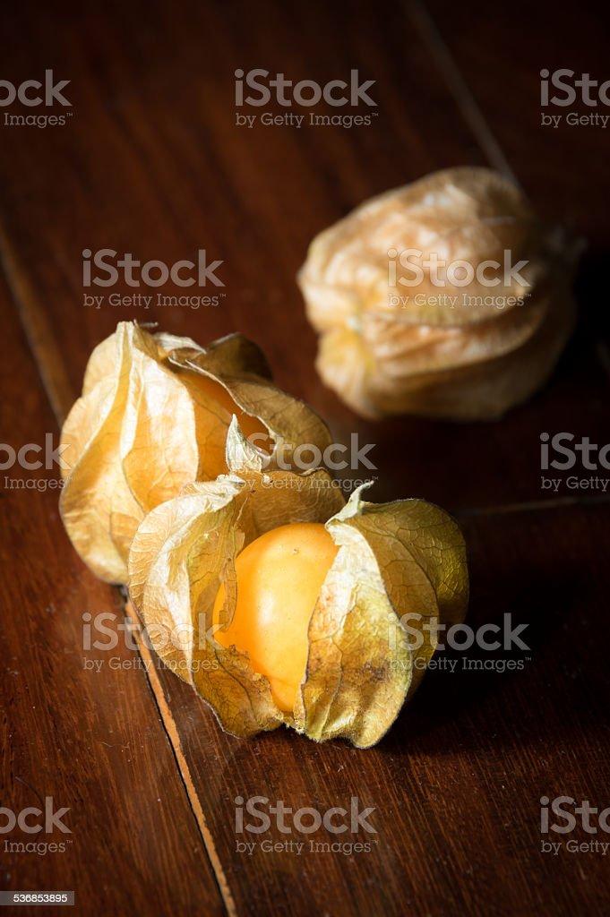 Physalis fruit or capegooseberry stock photo