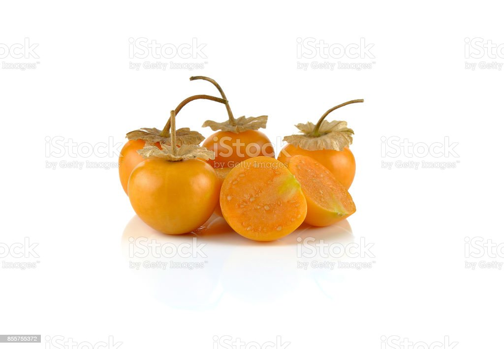 Physalis on a white background stock photo