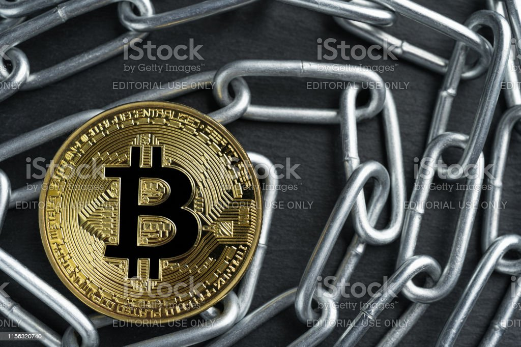 Photo Libre De Droit De Piece Dor Physique De Bitcoin Sur