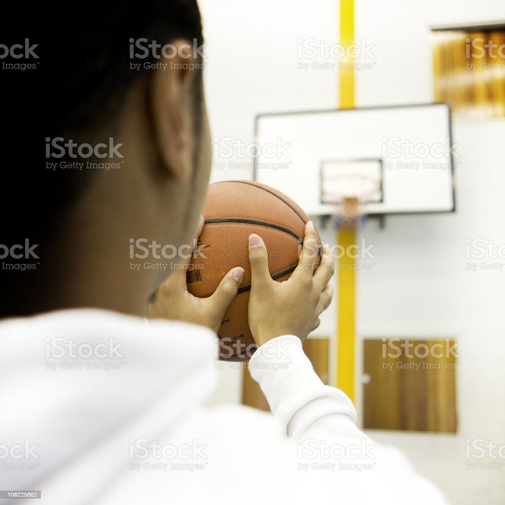 physical education: basketball penalty stock photo