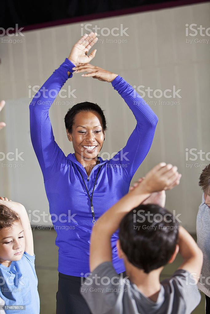 Physical education class royalty-free stock photo