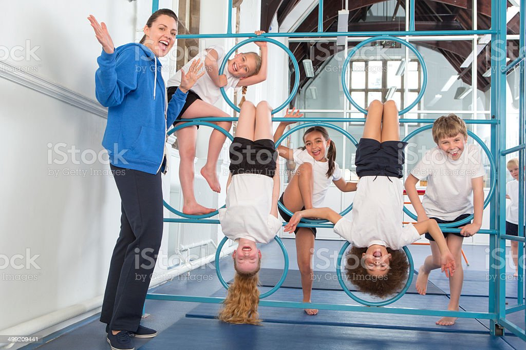 Physical Education In School stock photo