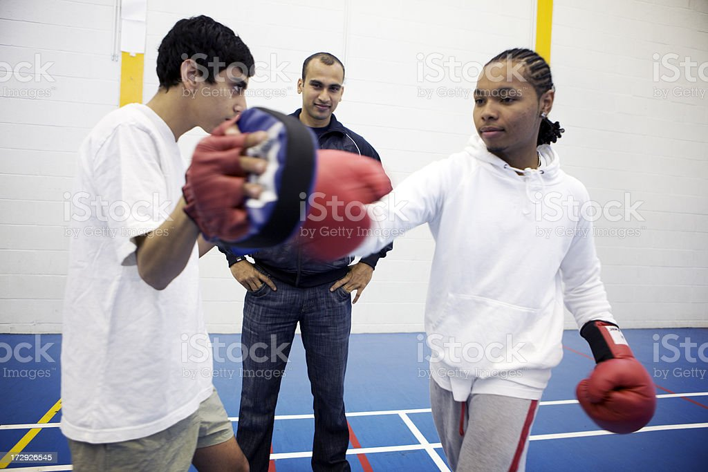 physical education: knockout punch stock photo