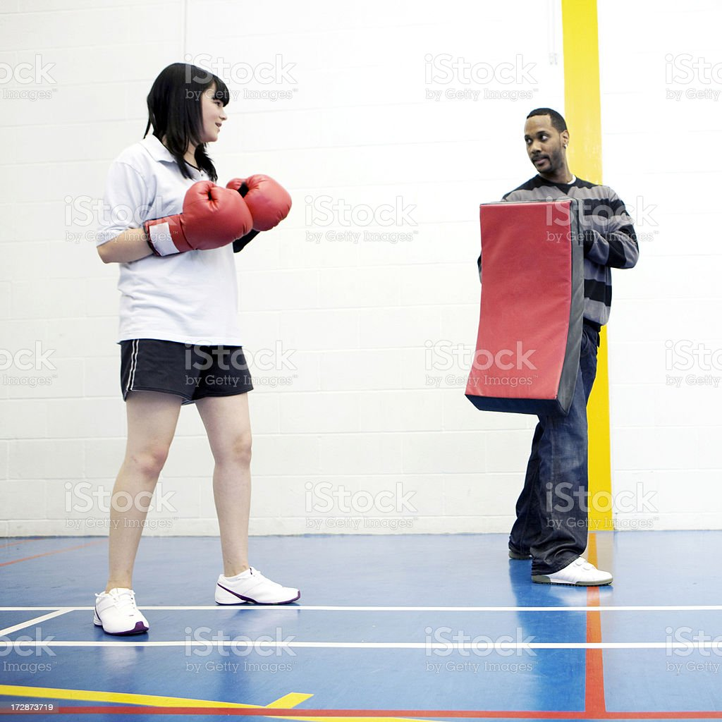 physical education: self defence stock photo