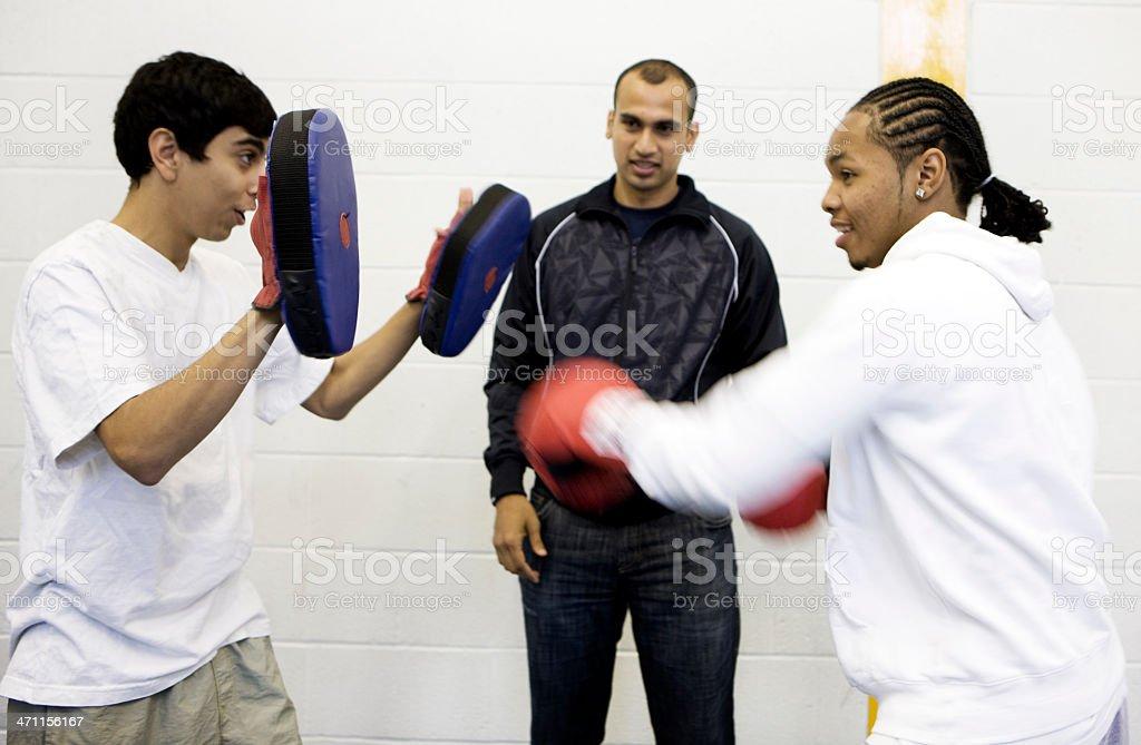 physical education: training session stock photo