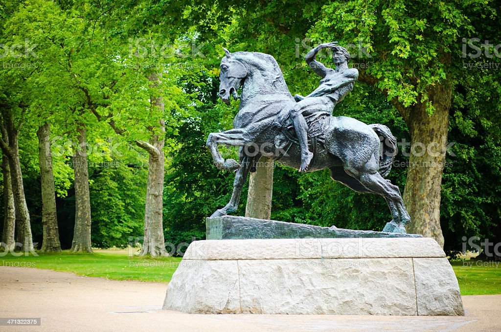 Physical Energy statue at Kensington Gardens in London, England royalty-free stock photo