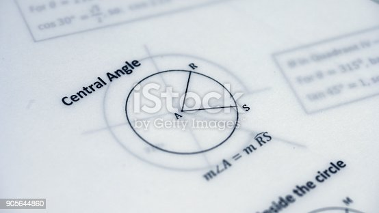 909927050 istock photo Physical Formulas, Graphics And Scientific Calculations On Document 905644860