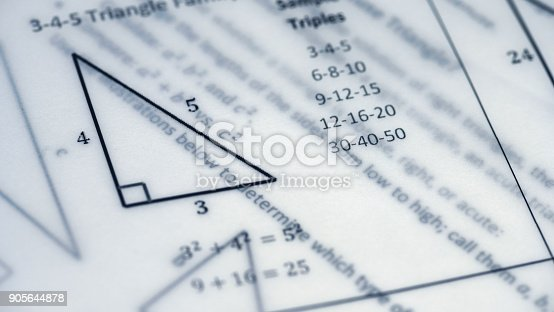 909927050 istock photo Physical Formulas, Graphics And Scientific Calculations On Document 905644878