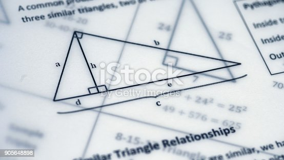 909927050 istock photo Physical Formulas, Graphics And Scientific Calculations On Document 905648898