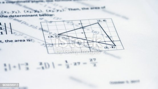 909927050 istock photo Physical Formulas, Graphics And Scientific Calculations On Document 905658912