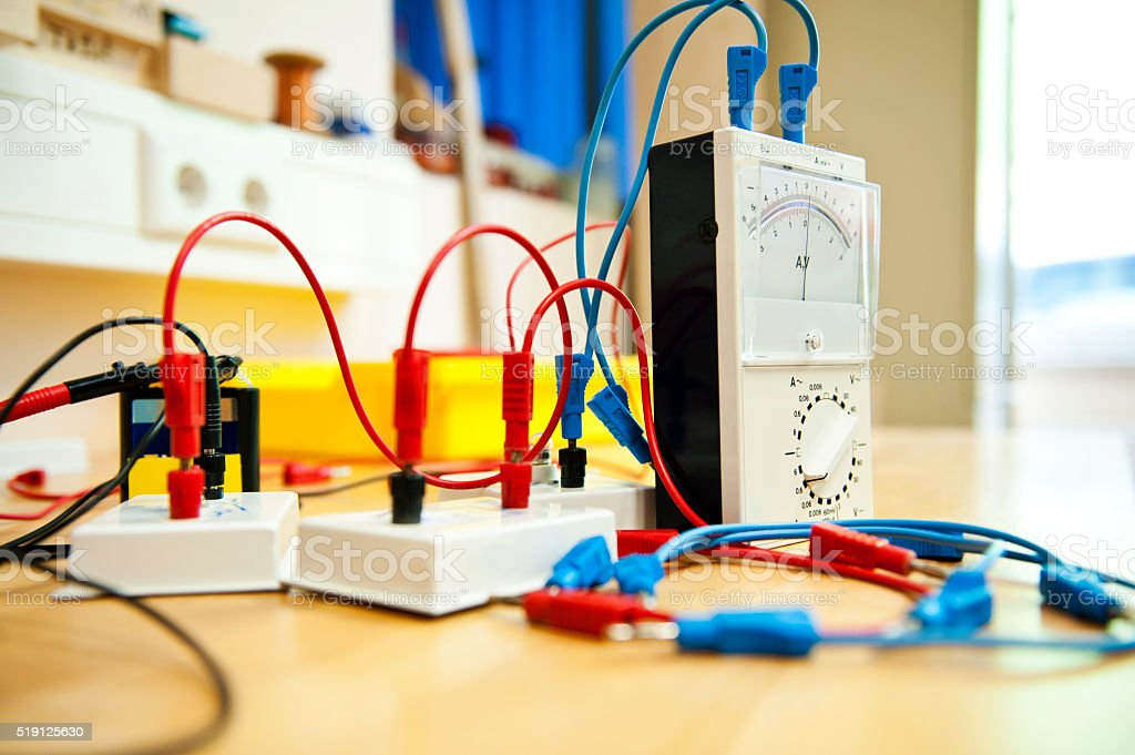 Physical Laboratory  - School experiment stock photo