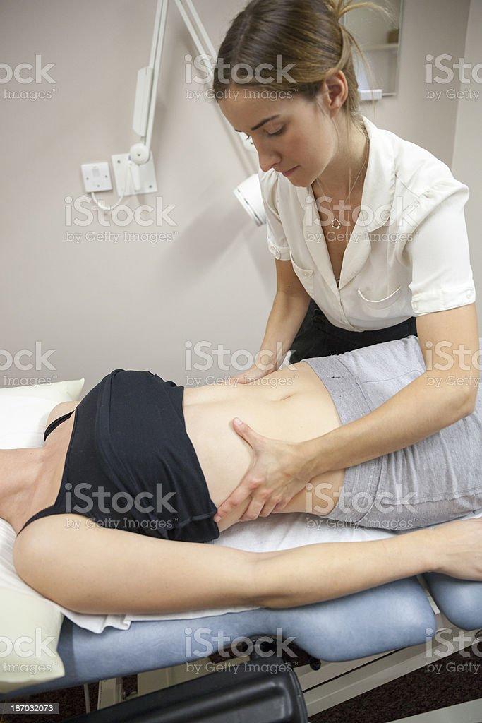Physical Therapist Series: abdomen royalty-free stock photo
