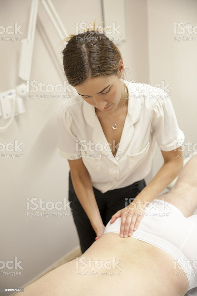 Physical Therapist Series: the back royalty-free stock photo