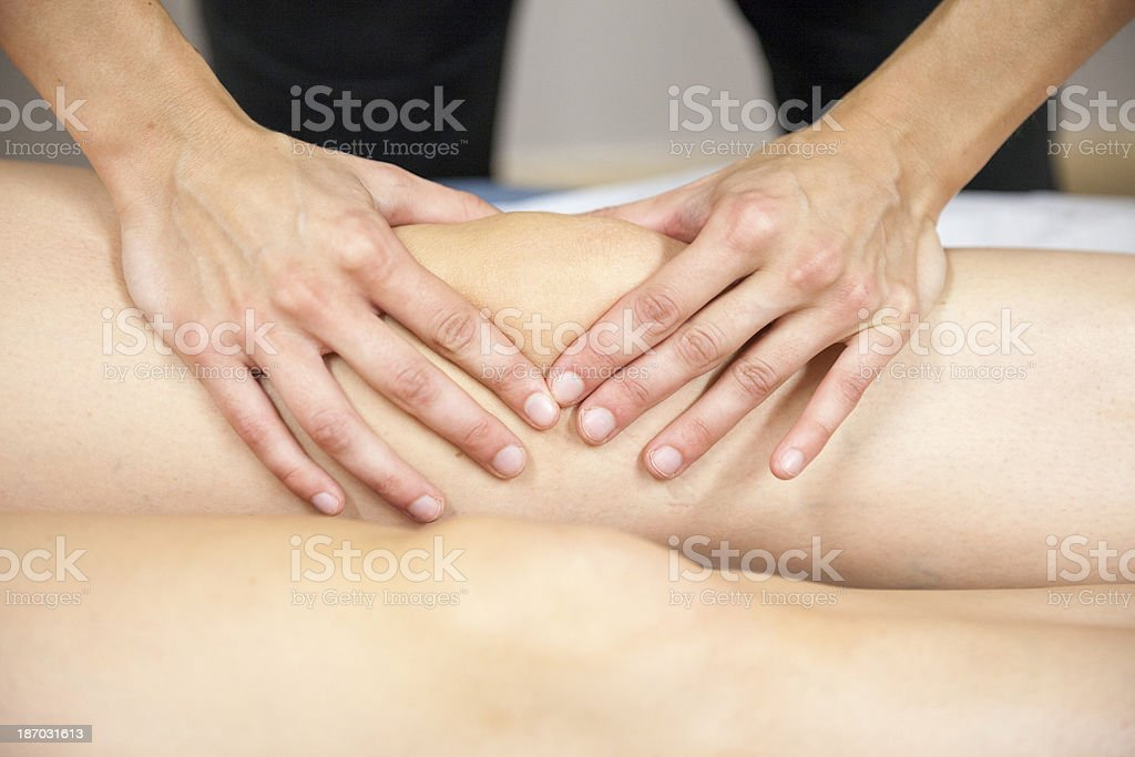 Physical Therapist Series: the knee royalty-free stock photo