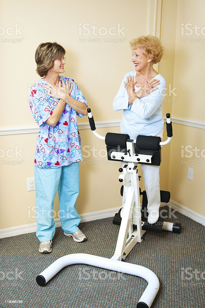 Physical Therapist with Chiropractic Patient royalty-free stock photo
