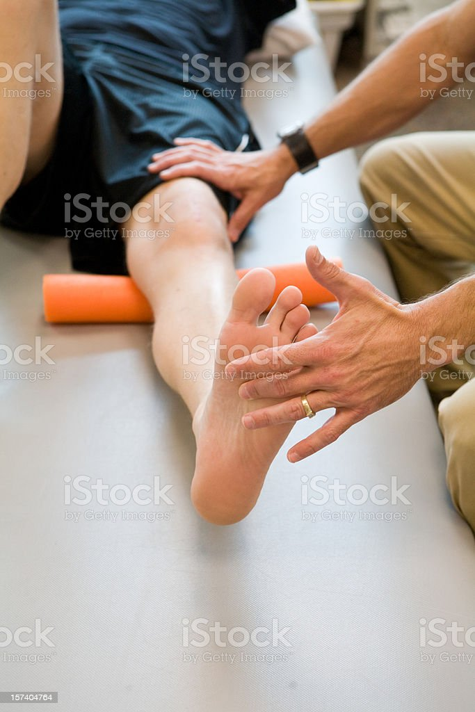 Physical Therapist Working royalty-free stock photo