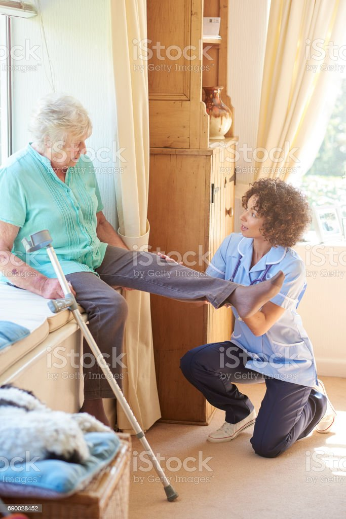 physical therapy at home stock photo