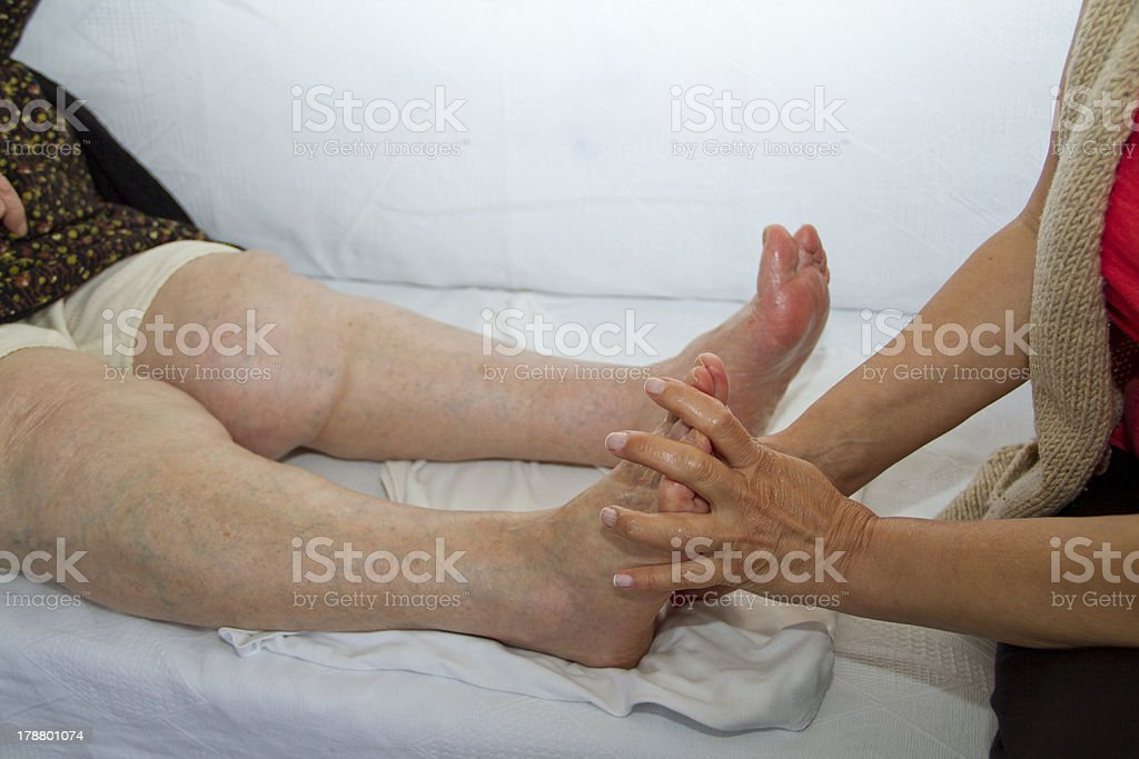 Physical Therapy for Caucasian senior royalty-free stock photo