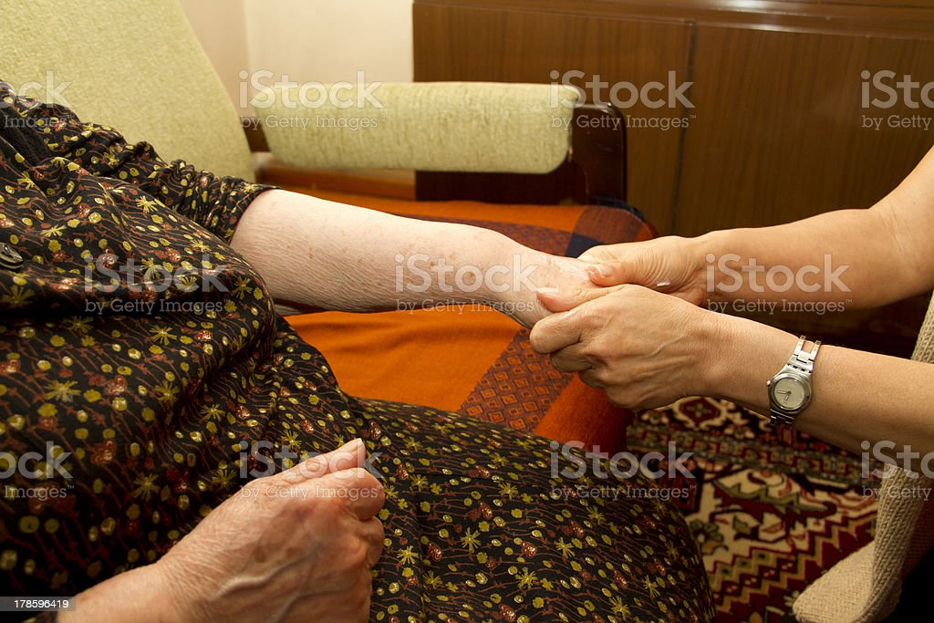Physical Therapy for seniors royalty-free stock photo