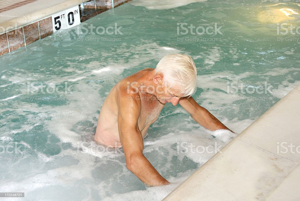 Physical Therapy for The Elderly royalty-free stock photo