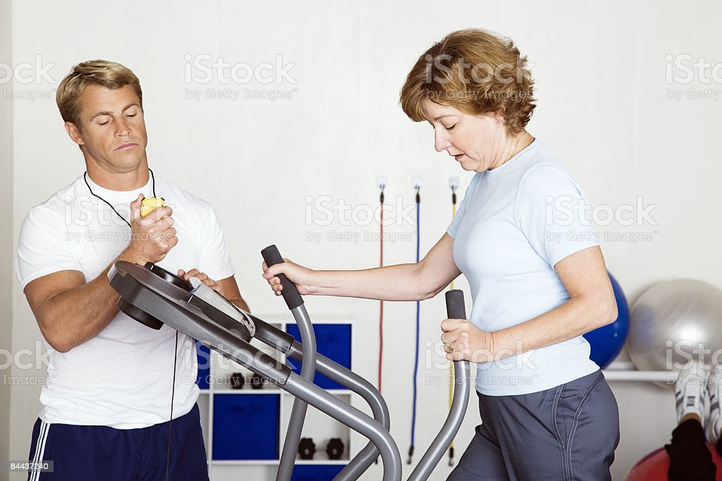 Physical Therapy, Matured Woman royalty-free stock photo